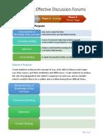 designing effective discussion forums handout