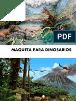 maqueta dinosaurios