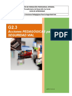 G2.3 Acciones Pedagógicas para la Seguridad Vial.