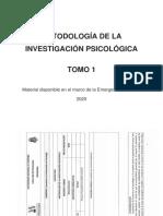 METODOLOGÍA DE LA INVESTIGACION PSICOLOGICA - TOMO 1-