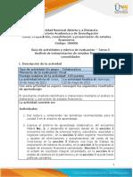 Guia de actividades y Rúbrica de evaluación - Tarea 5 - Analisis de interpretación de estados financieros consolidados
