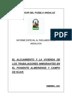 EL ALOJAMIENTO Y LA VIVIENDA DE LOS TRABAJADORES INMIGRANTES EN EL PONIENTE ALMERIENSE Y CAMPO DE NÍJAR. Febrero 2001