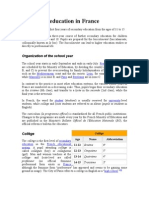 Secondary education in France - College System