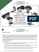 CADERNO DE ATIVIDADES - 4 ANOS- ABRIL