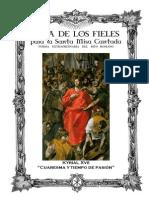 GUÍA DE LOS FIELES PARA LA SANTA MISA CANTADA. FORMA EXTRAORDINARIA DEL RITO ROMANO. KYRIAL XVII. CUARESMA Y TIEMPO DE PASIÓN