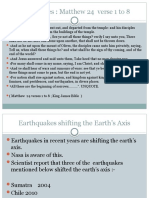 Some Earthquakes That have shifted the earths axis from 2004