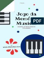 JOGO DA MEMORIA - Notas Teclado