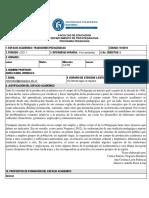TRADICIONES PEDAGÓGICAS PROGRAMA ANALITICO 2021-1