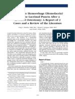 Retrograde Hemorrhage (Hemolacria)