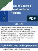Crimes Contra a Incolumidade Pública