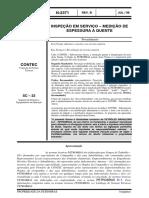 N-2371 - INSPEÇÃO EM SERVIÇO – MEDIÇÃO DE ESPESSURA A QUENTE