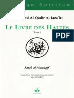 Abd Al Qadir Al Jazairi - Livre Des Haltes - Tome 1