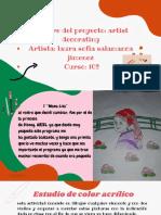 Verde y Naranja Divertido Clase de Artes Visuales Educación Presentación