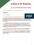 Introduction à la finance cours 1 chapitre intro propre