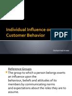 individual infuence on customer behaviour