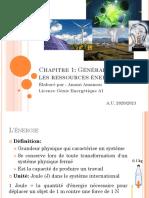 Chapitre 1-Généralité Sur Les Ressources Énergétiques