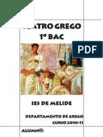 Caderno de teatro Grego. 1º BAC. Curso 2010-11