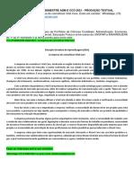 2º e 3º Semestre Adm e Cco 2021 - Produção Textual Interdisciplinar - A Empresa de Cosméticos Vital Care.