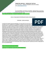 """6º e 7º Semestre Adm 2021 - Produção Textual Interdisciplinar - """"a Empresa """"Praticidade"""" – Gestão Sustentável"""