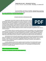 """6º e 7º Semestre Eco 2021 - Produção Textual Interdisciplinar - """"Economia e Meio Ambiente""""."""