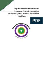 Informe Nacional de Femicidios Abril 2021