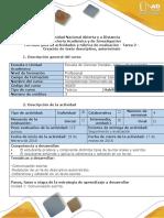 Guía de actividades y rúbrica de evaluación - Tarea 2 - Creación de texto descriptivo, autorretrato (1)
