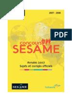 annales_concours_sesame
