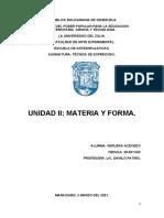 MATERIA Y FORMA