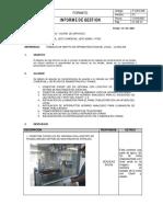 Informe de Gestion de Mantenimiento 001-2021_LA MOLINA