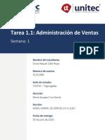 Tarea 1.1 - Administración de Ventas