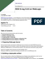 WSO2 Oxygen Tank - How to Deploy WSO2 G-reg 3.6.0 on WebLogic 10.3 - 2011-01-26