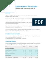 Business-plan Agence de voyages