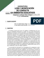 analisis de modificacion en ambientes ed