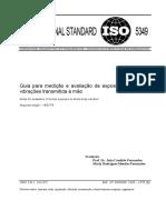 ISO nº 5349 - medição e valiação de exposição a vibração transmitda a mão