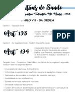 CF 1988 - Artigos 193 ao 200