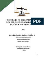 Base Para El Reglamento de Ley Del Pasivo Laboral en La República Dominicana
