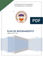 PLAN DE MEJORAMIENTO METODOLOGIA