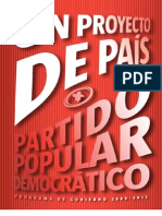 Programa del Partido Popular Democratico 2009-2012