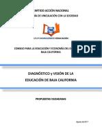 DIAGNÓSTICO Y VISIÓN  EDUCACIÓN BAJA CALIFORNIA