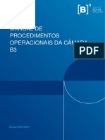 Manual de Procedimentos Operacionais Da Camara B3_20210126