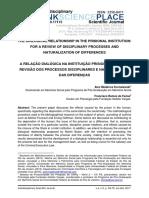A Relação Dialógica Na Instituição Prisional - Por Uma Revisão Dos Processos Disciplinares e Naturalização Das Diferenças