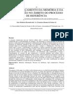 O entrelaçamento da memória e da informação no âmbito do processo de referência