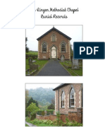 The Lingen Methodist Chapel Burial Records, Herefordshire England