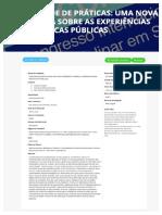 Comunidade de práticas - uma nova perspectiva sobre as experiências em bibliotecas públicas (VIII CONINTER)