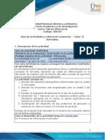 Guía de Actividades y Rúbrica de Evaluación - Unidad 3 - Tarea 3 - Derivadas