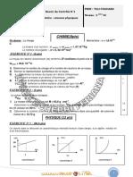 Devoir de Contrôle N°1 - Sciences physiques - 2ème Sciences exp (2011-2012) Mr TLILI TOUHAMI