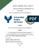 MONOGRAFIA GRUPO 6 EVALUACION FINANCIERA DE LAS EMPRESAS
