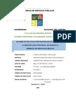 Informe Practicas Municipalidad Provincial de Huancayo