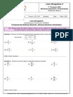 Lista de MATEMÁTICA - 6ano - referente à Prova do dia 14/05/2021