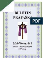 Buletin Prapaska I - Masa Prapaska 2011, GKI Kwitang